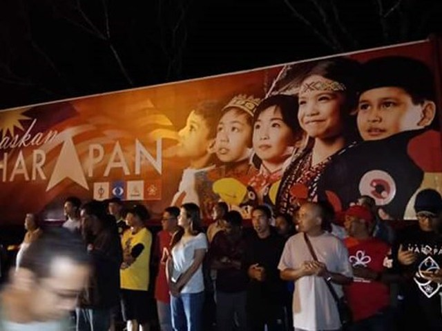 """ POLIS DI NTR "" BLOCKED USING PH TRAILER"" LUASKAN HARAPAN "" AT ITS CERAMAH AT BKT JANA TPG !"""