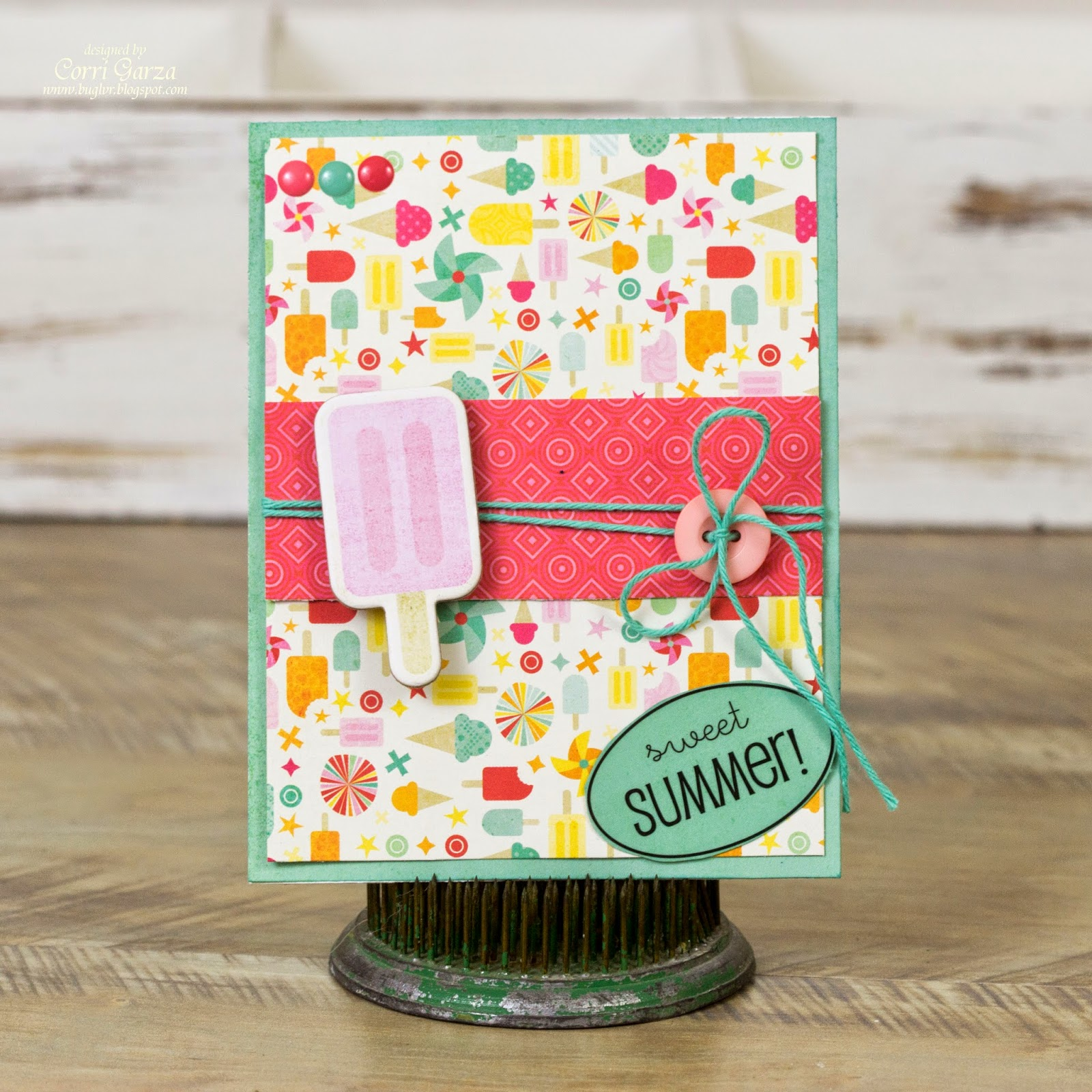 SRM Stickers Blog - 1 Sticker - 4 Cards by Corri - #A2 #clear box #cards #gift set #stickers #summer