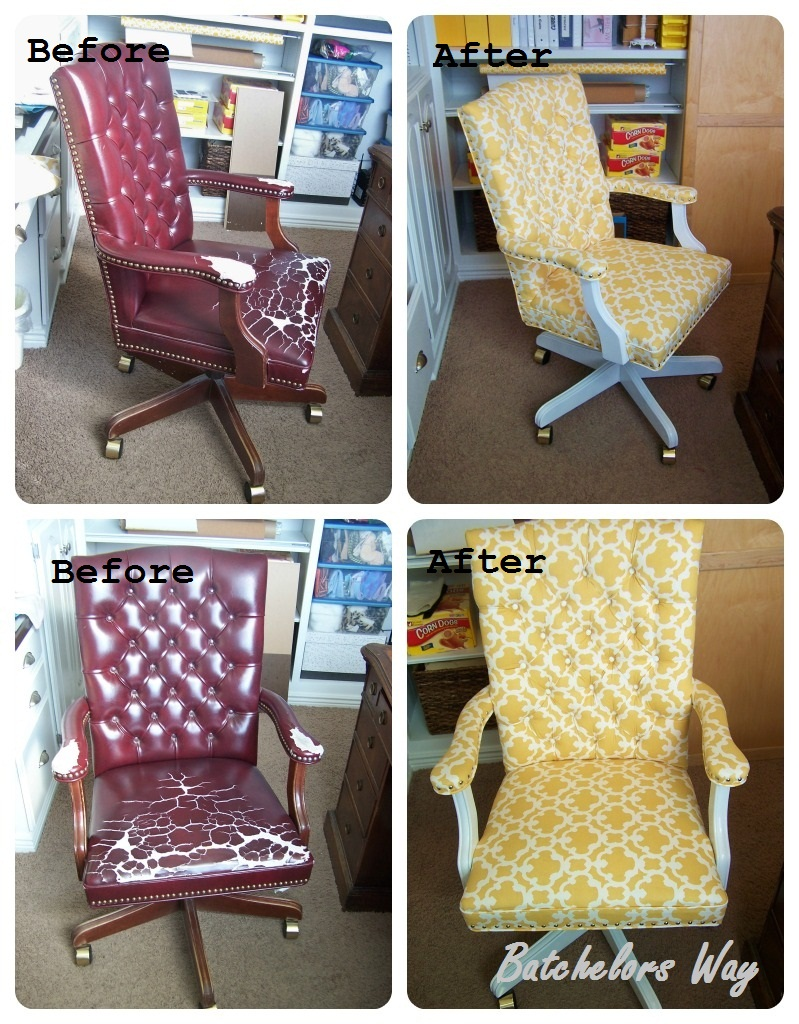 reupholster an office chair. Here Is The Before And After Of My Re-upholstery 101 Class Project. Reupholster An Office Chair