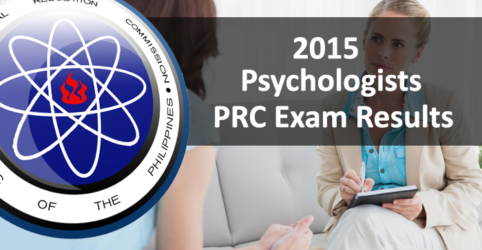 July 2015 Psychologists PRC Board Examination Results