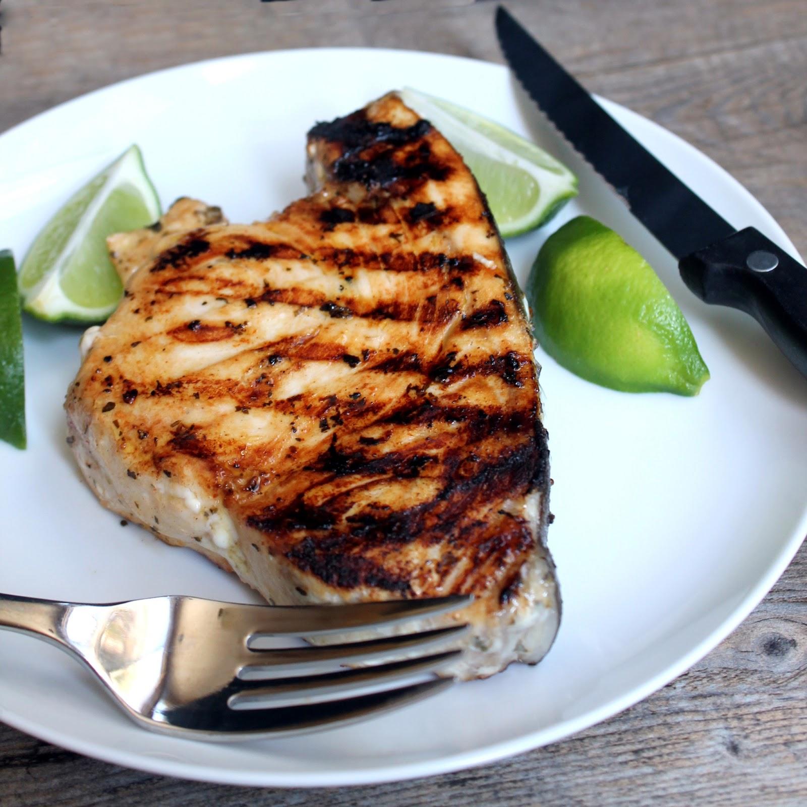 Grilled swordfish for Fish steak recipe