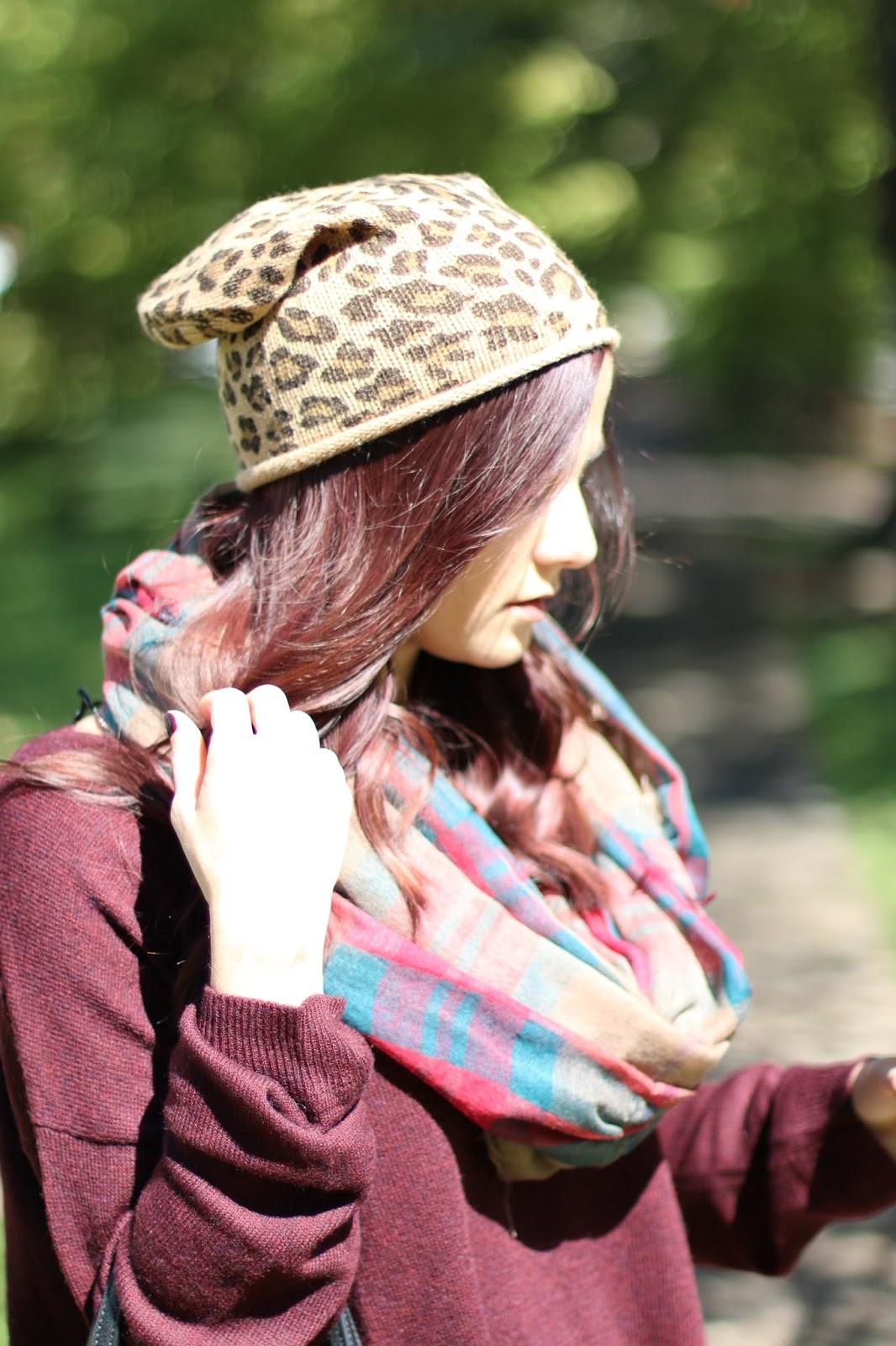 leopard beanie