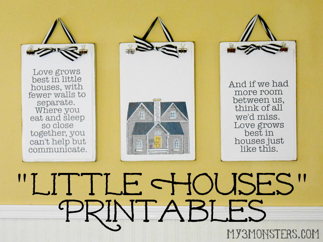 Little Houses Printables at my3monsters,com