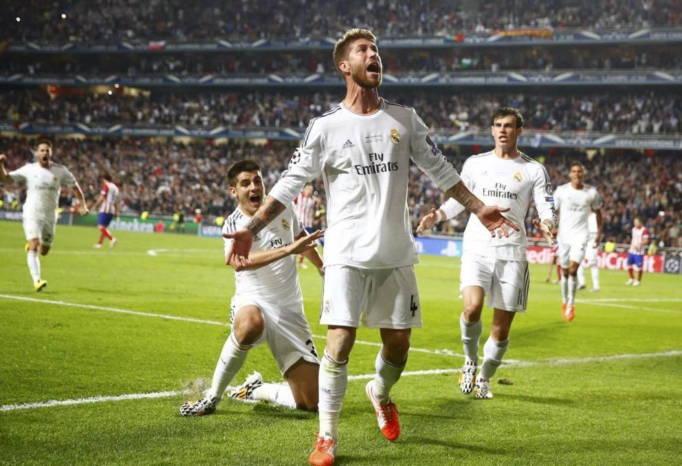Sergio Ramos empató en el descuento la final que se llevó el Madrid