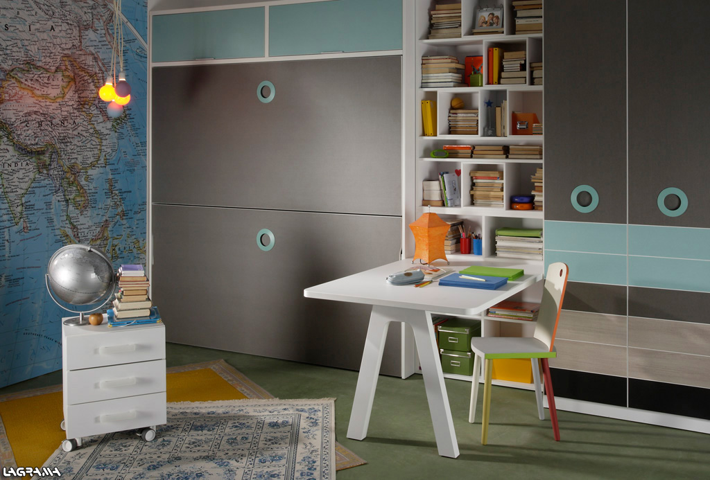 Dormitorio juvenil para dos for Literas originales para un cuarto juvenil