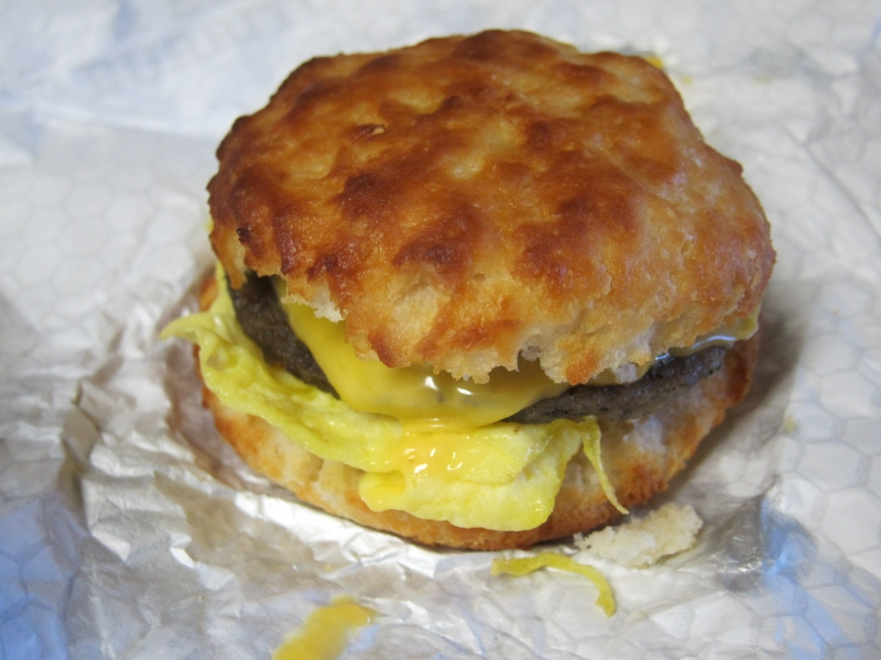 Sausage Egg And Cheese Biscuit Review: carl's jr. - sausage , egg ...