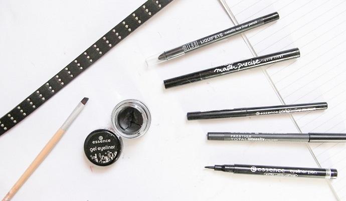 best black eyeliner pencil liquid gel drugstore beauty blog post