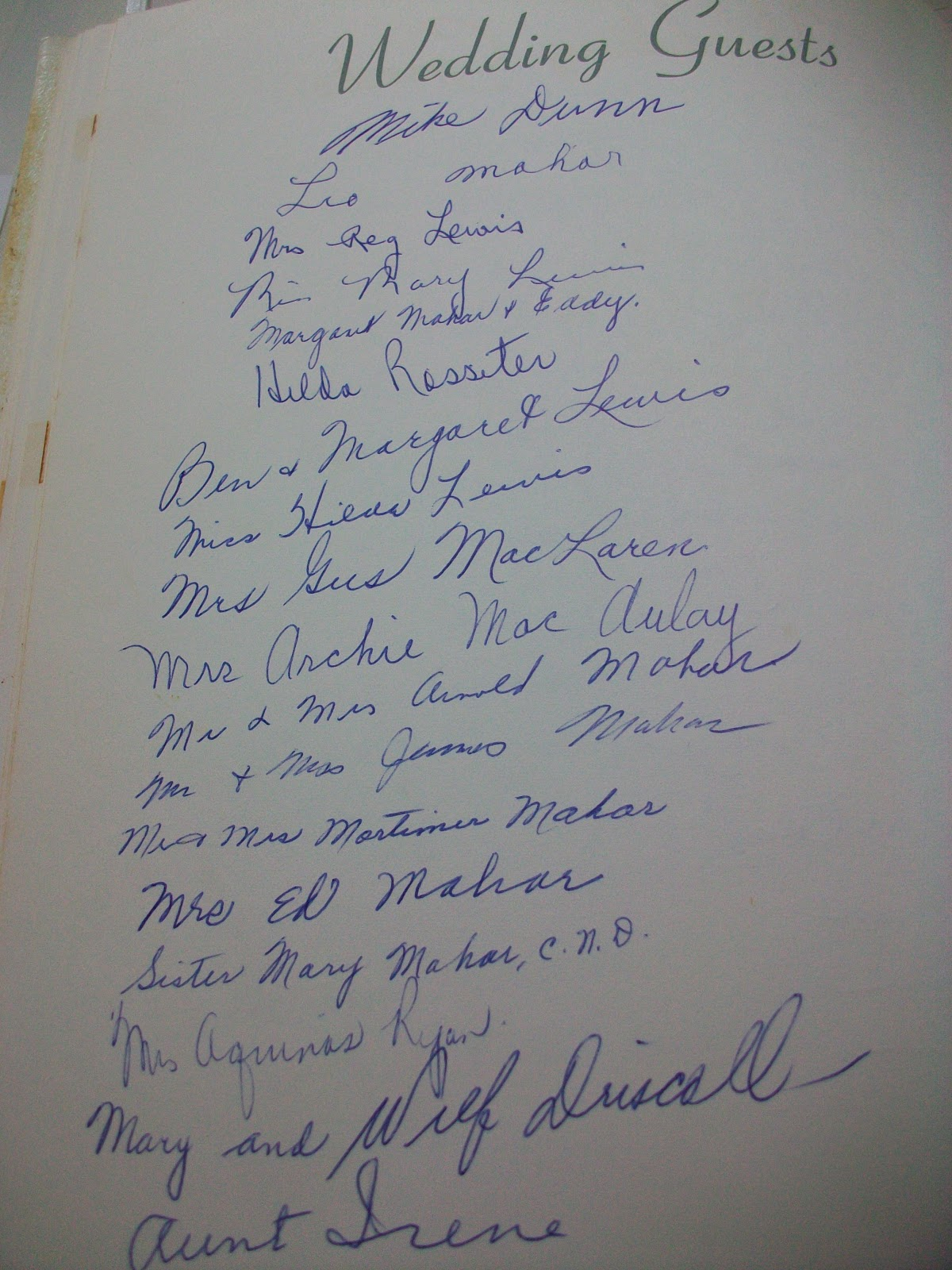 I Also Came Across The Speech That Dad Made At Their Wedding Reception Which Mom Says Jimmie MacAulay Helped Him Write It Was Touching To Read