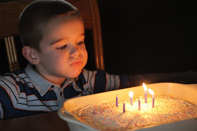 Little Boy_Birthday Candles_Blowing Out