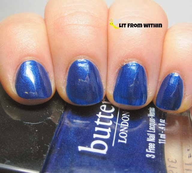 Bluecoat, a metallic/electric blue