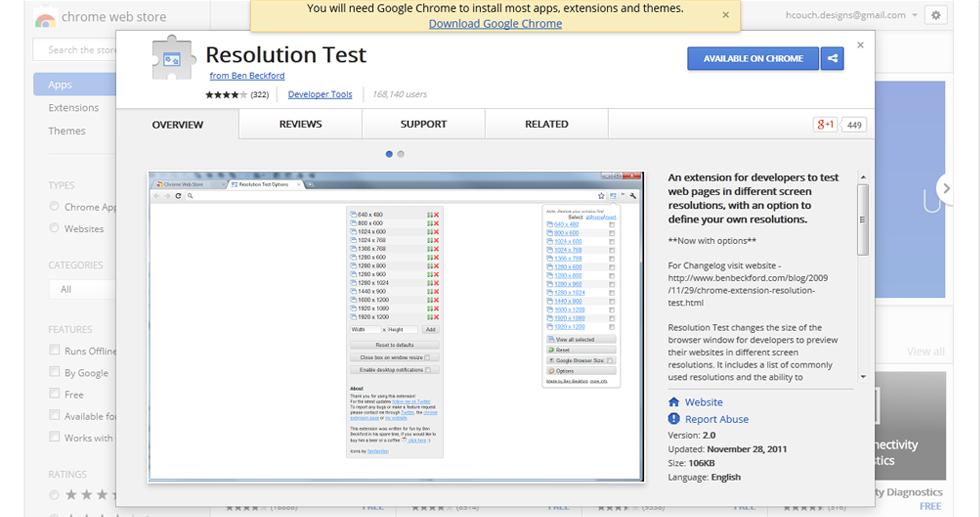 2. Resolution Test