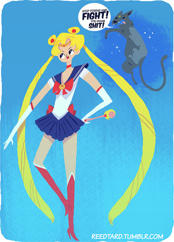 Sailor Moon por Reed Bond