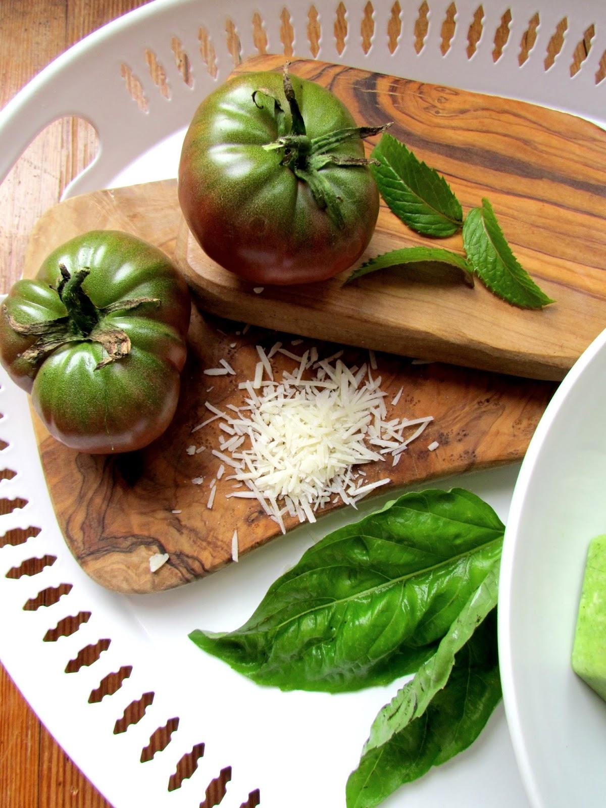 Trisha Brink Design: Green Tomato Pesto - My Hubby's Specialty