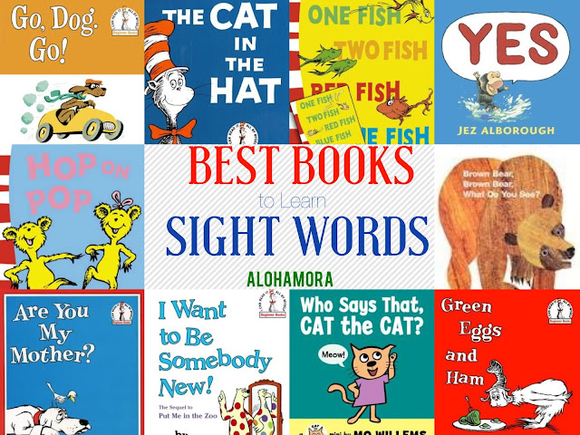 Best books for Kindergarten Sight Words/High Frequency Words.  This book lists has the best books that you can find at the library or book store to help your kindergartner learn to read. Alohamora Open a Book http://www.alohamoraopenabook.blogspot.com/ early reader beginning reader