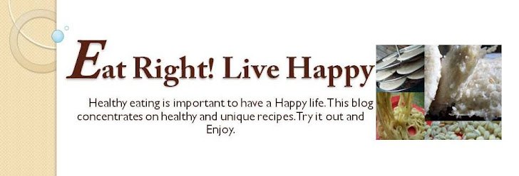 Eat Right! Live Happy