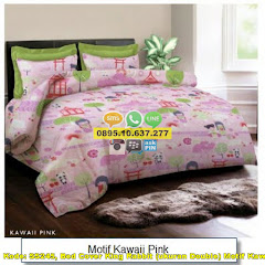 Harga Bed Cover King Rabbit (ukuran Double) Motif Kawaii Jual