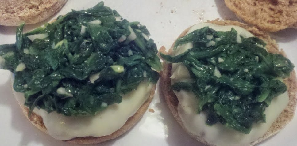"Burgers topped with Garlicky Arugula. 1 of Cooking Chat's ""4 for the Fourth"""
