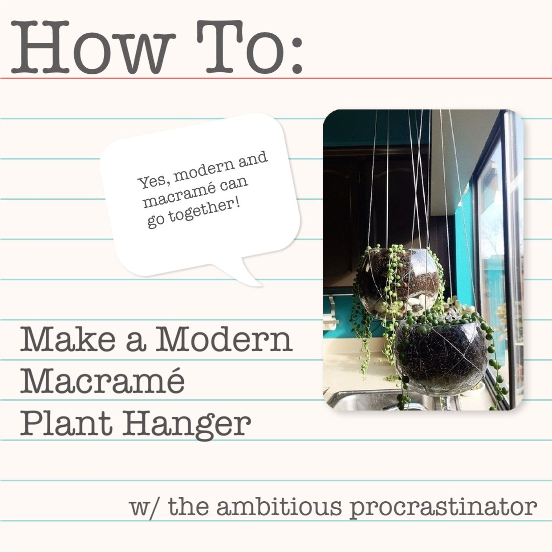 The Ambitious Procrastinator Pinspired By Macram Plant