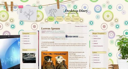 Desktop Diary Blogger Template