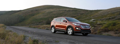 2013 Hyundai Santa Fe Orange