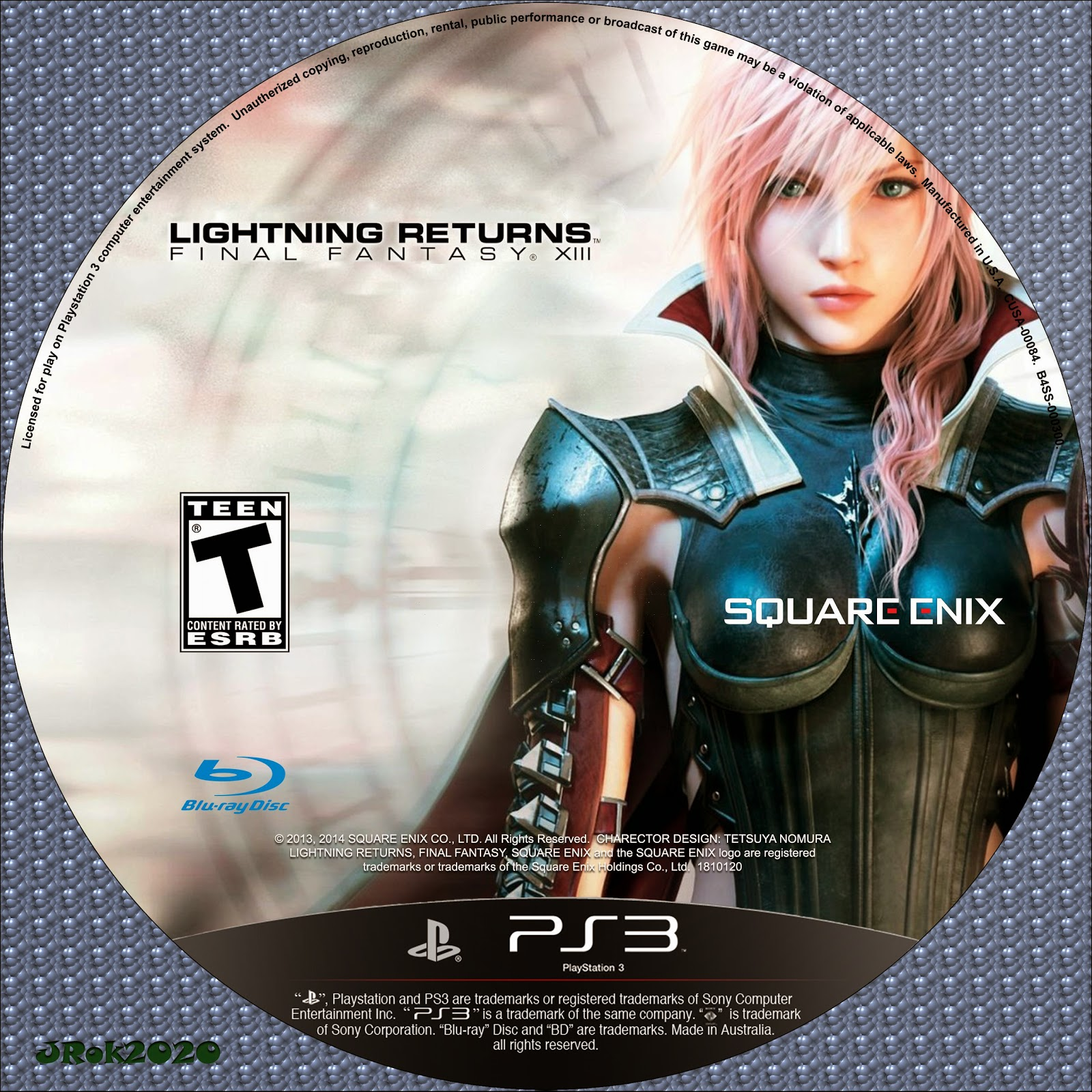 Label Lightning Returns Final Fantasy XIII PS3
