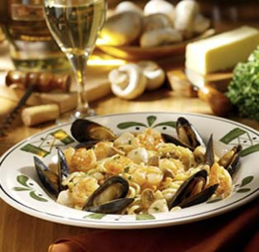Olive Garden Recipes: Olive Garden Copycat Recipes: Seafood Portofino