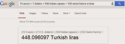 Kilo - Gram - Euro - Lira - Dolar / Birimleri Google ile Çevirin