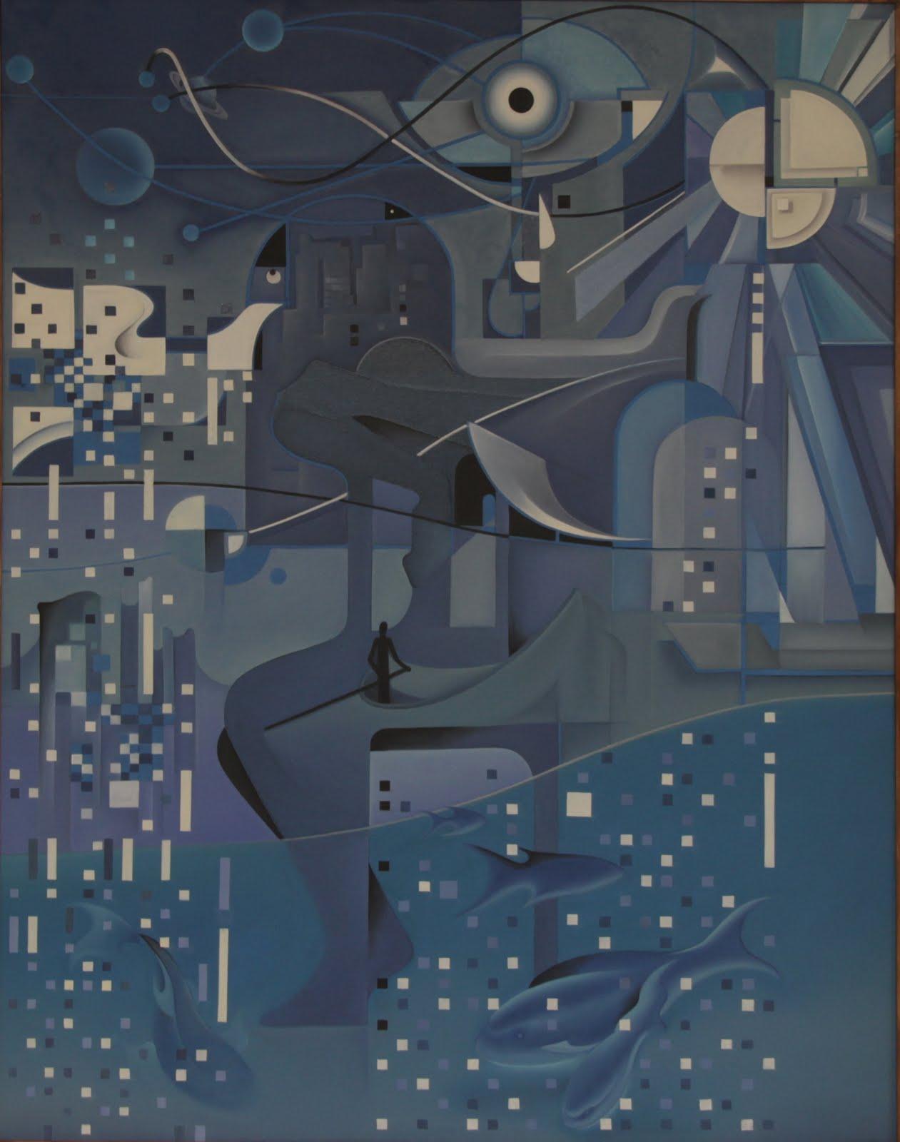 Solange Alves, A Deriva,  óleo sobre tela, 110x140 cm
