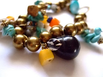 Brass Ball Bracelet with Gemstones, Bone, Shell & More