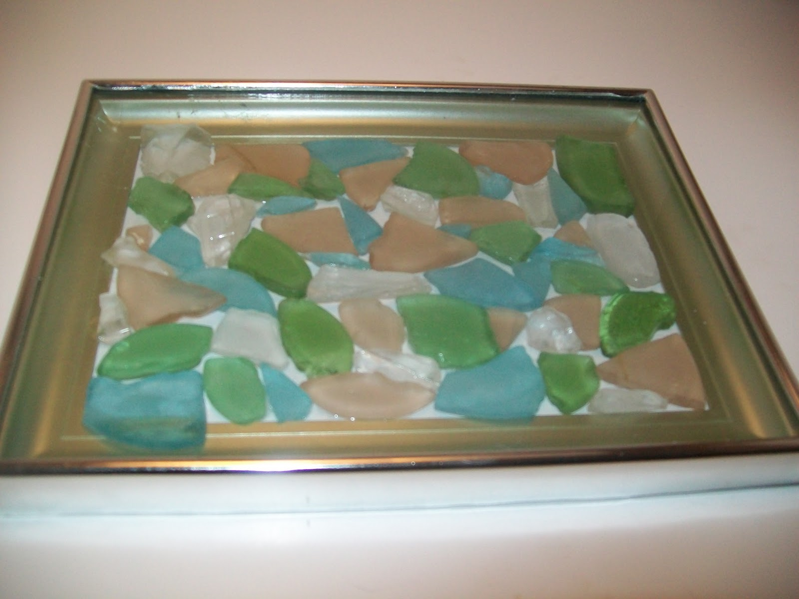 Sea Glass Art Buildeth Her House