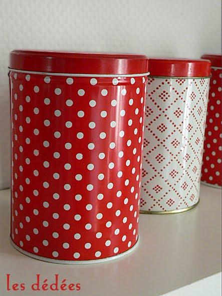 Les dedees vintage recup creations petits pois en for Accessoire cuisine rouge