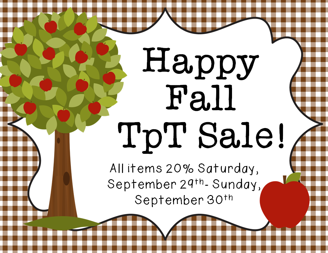 Happy Fall Sale Mandys Tips For Teachers