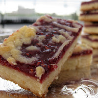 Raspberry Shortbread Bars with Crumb Topping