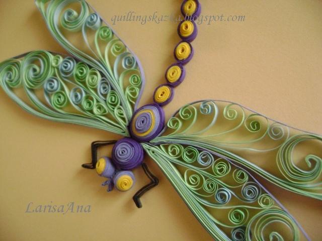 Волшебная сказка про квиллинг: Стрекоза: http://quillingskazka.blogspot.ca/2011/07/blog-post_18.html