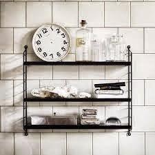 Estantería STRING para la cocina, combinación en blanco y negro