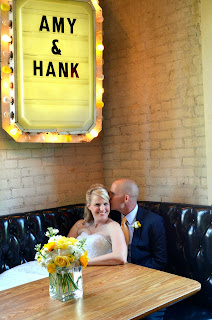 Amy and Hank marquee sign