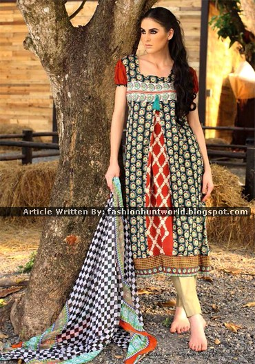 Libas Designer Embroidered 2015 By Shariq Textile Magazine