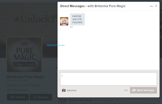 Britannia Pure Chocolush - GET Golden key in Twitter inbox images