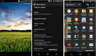 sony xperia t jelly bean firmware