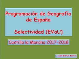 Programación de Geografía para Selectividad (PAEG).           2017-2018.