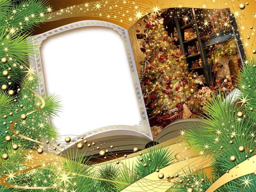 Book Christmas Frame