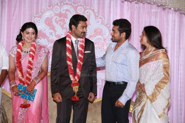 Surya and Jyothika in Sneha Reception