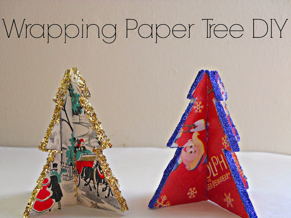 Wrapping Paper Tree DIY