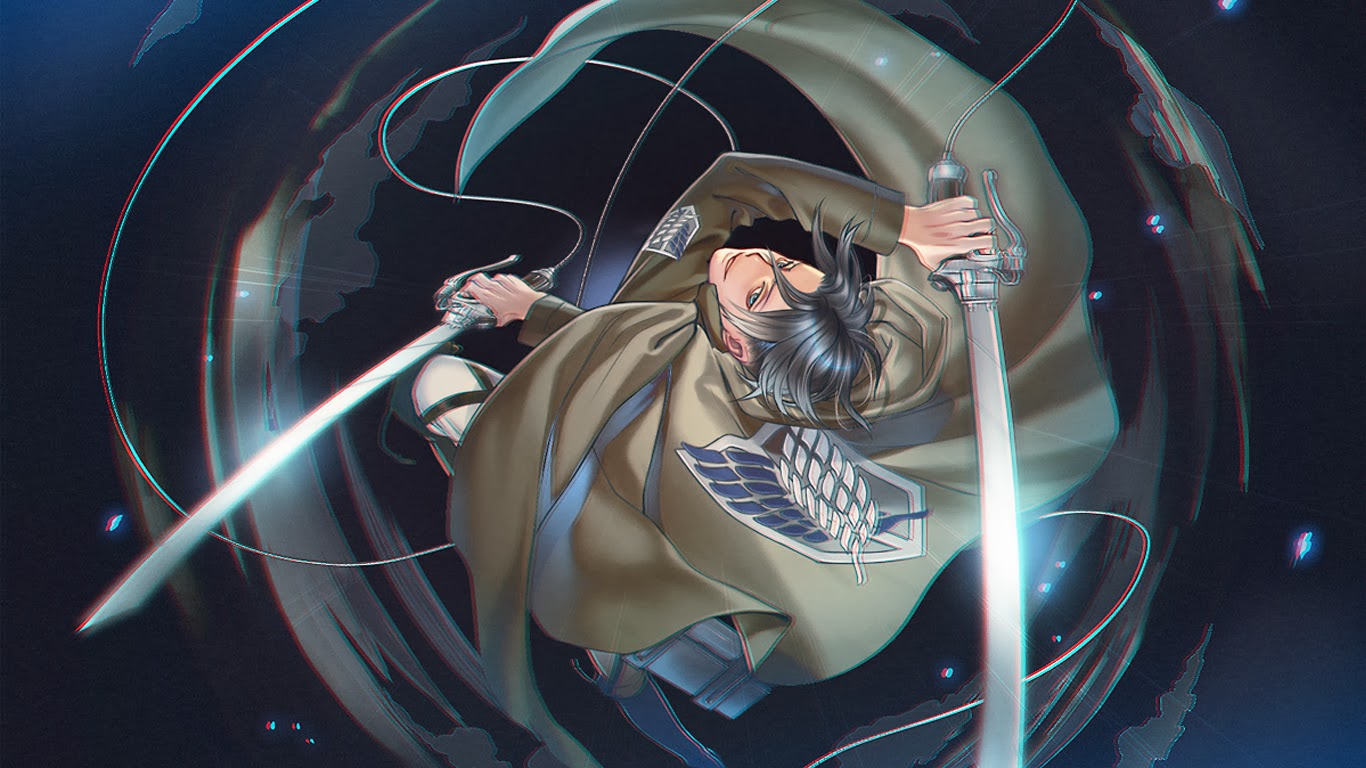 captain levi 3d maneuver gear attack on titan shingeki no kyojin anime