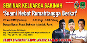 Seminar Keluarga Sakinah 22 Mei 2012 semua dijemput HADIR percuma