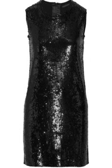 Sequined cashmere and silk-blend dress