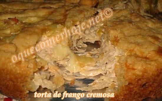Torta de frango cremosa de liquidificador receita