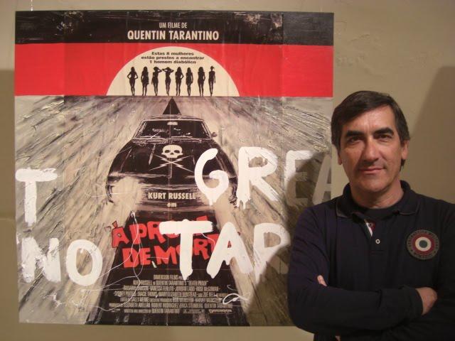 Francisco Urbano with the work 'Tarantino'