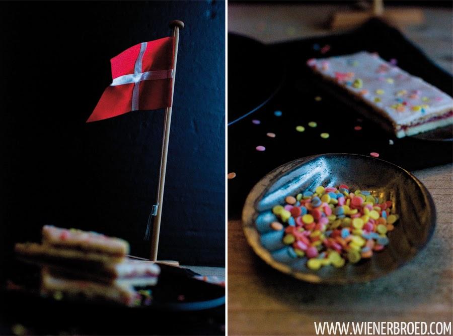 Hindbærssnitter - Danish raspberry shortpastry