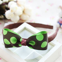 Green polko dot hairband -- HA735 Price:RM18 per pc